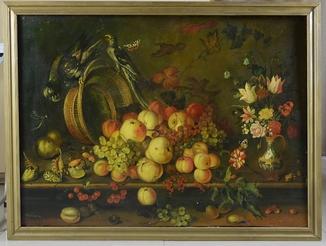 Натюрморт с фруктами Ю.Дубинин 1992 г.