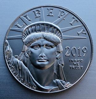 100 $ 2019 год США платина 31,1 грамм 999,5'