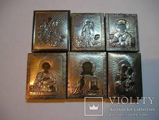 Иконы 6шт.серебро.