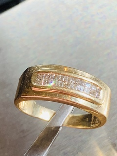 Мужское кольцо с 20 бриллиантами огранка принцесса