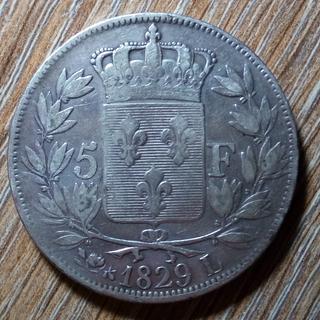 Франция 5 франков 1829 г.
