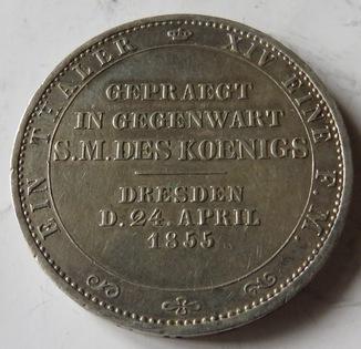 Талер 1855 года, Иоанна короля Саксонии.
