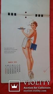 Календарь 1955 г. Esquire с работами художника  Джордж Петти  в стиле пин-апа Pin-up