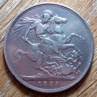 Великобритания крона 1889 г.