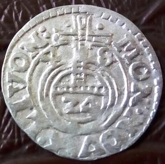 1 1/2 гроша (драйпьолкер) 1648 року Лівонія -КИЦЯ. Прибалтійська Швеція Христина