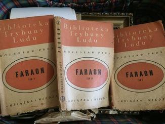 """Книга Б. Прус """" Фараон """" в трех томах 1949 гг"""