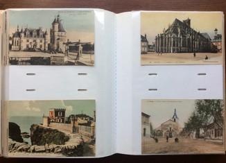 200 старинных видовых открыток Франции в альбоме. Города, архитектура