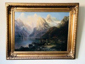 Картина Горное Озеро