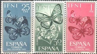 Исп. колонии. Ифни. 1961. Бабочки **.