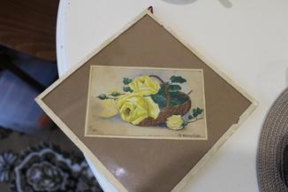 Квітковий натюрморт 29 року з підписом автора Т.Можаровская