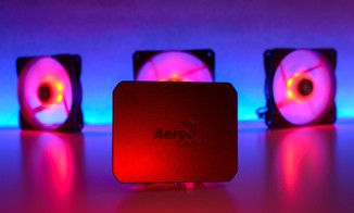 Система охлаждения, кулер Aerocool P7-F12 Pro RGB Black 3 х 120мм + P7-H1 для корпуса