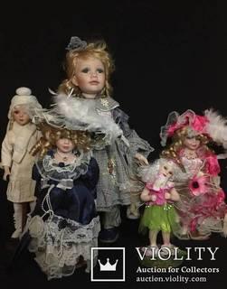 Кукла (лот фарфоровых кукол винтаж) 5 шт.