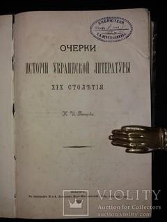 «Очерки исторіи украинской литературы XIX столѣтія