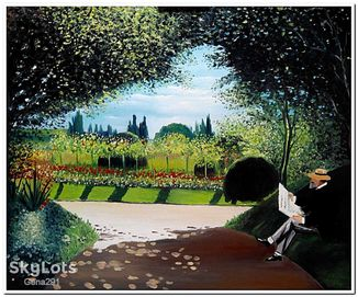 """Картина Копия Клода Монэ """"Адольф в саду"""" холст масло 50*60 см."""