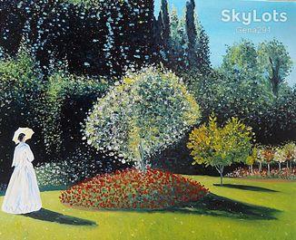"""Копия картины Клода Монэ """"Женщина в саду"""" 50*60см. холст масло"""