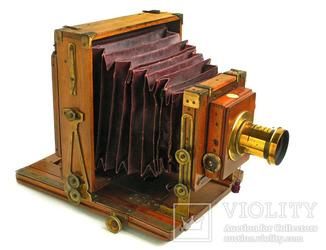 Фотоаппарат деревянный,конец 1800-х г.г.,Англия.