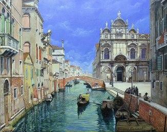 """""""Scoula Grande di San Marco"""" холст, масло 40 х 50 см"""