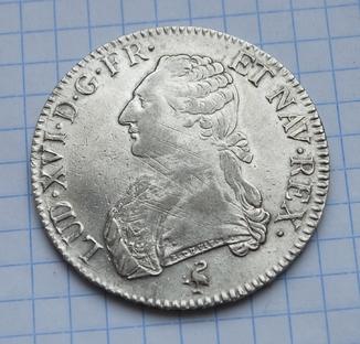 Экю 1790 года.