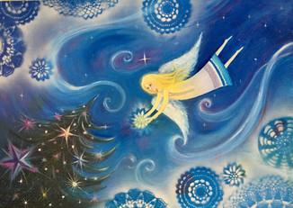 """Картина """"Рождественский ангел"""""""
