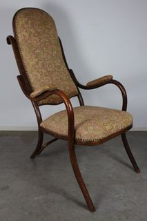Антикварне гнуте крісло в стилі Thonet