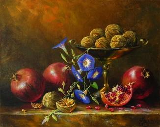 """""""Утренний цветок"""" х.м. 40х50 см., Новиков Ю."""