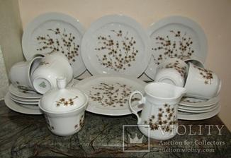 Сервиз. Тарелки чашки блюдца сахарница молочник фарфор клеймо Vohenstrauss Johann Германия