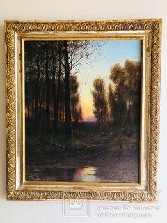 """Картина """"Лесной пейзаж"""" А.Медвъдевъ"""