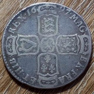 Британия 1/2 кроны 1697 г.