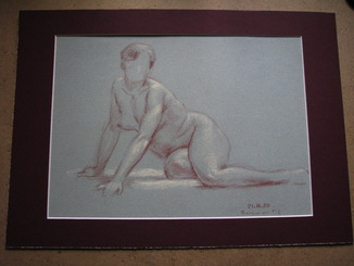 Волошин Георгий Сергеевич (1925-2014), Грация №3, бумага, карандаш, 1980 г.