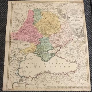 Карта Брюса. Географическая карта частей России и земель Украины