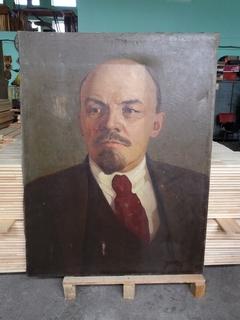 Портрет В.Ленин.