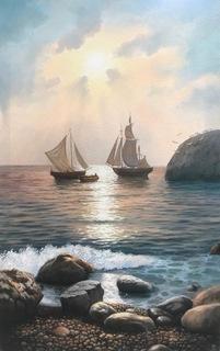 Вечер на море