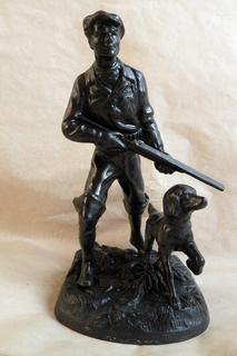 Охотник с собакой. Касли. 1973г.