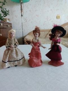 "Куклы Deagostini, из серии ""Дамы эпохи"""