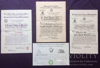 Четыре масонских документа на Людвика Козловски