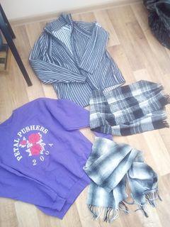 Кофта і світер+ 2 шарфа розмір XL