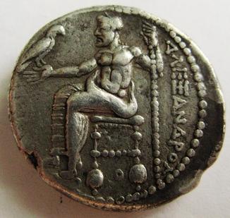 Древняя Греция, г. Аке, тетрадрахма, (336-323 гг. до н.э.) Александр Македонский