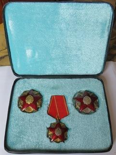 Н. Р.Румыния ''Орден Защита Отечества''I, II, III степени в серебре .