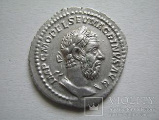 Денарий Макрин (217-218).