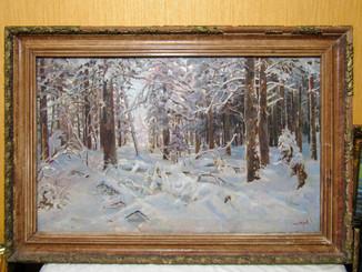 """Картина """"Зимний лес"""" 1960"""