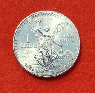Мексика 1 унция 1985 серебро аАНЦ