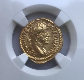 Ауреус 138-161 гг. н.э. Антонин Пий