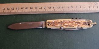 Нож складной старинный - Франция.