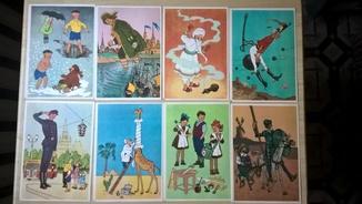"""Набор открыток """"Герои любимых книг"""" художник Г.Вальк"""