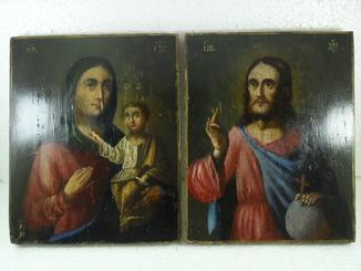 Богородица и Спаситель. 19-й век