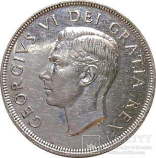 Канада 1 доллар,1949,Вхождение Ньюфаундленда в состав Канады,С127