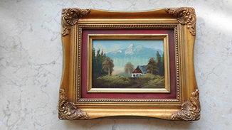 Альпийский домик, Германия неизв. авт. 30-е годы. Масло.