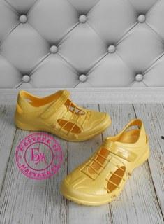 Новинка кроксы, аквашузы Steiner желтые 37 размер
