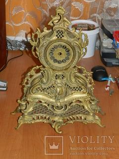 Каминные часы, без  механизма (латунь или бронза)