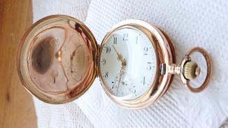 Часы золотые карманные механические System Glashutte .